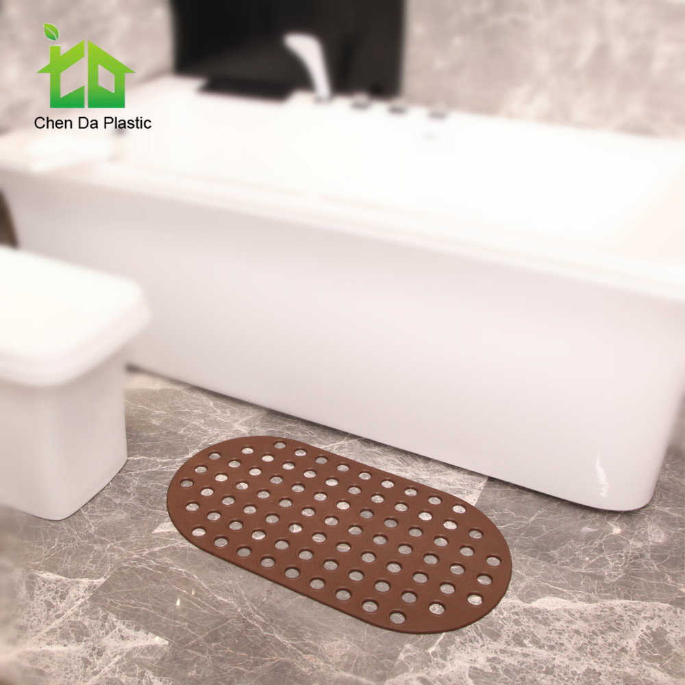 Latest newest product eco friendly curved bath tub mat plastic shower mat