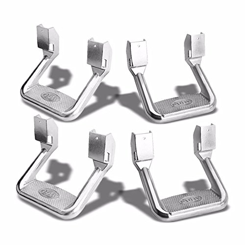 4x Bully AS-600 Silver Universal Aluminum Side Step Mount Bar for Truck/SUV/Pickup