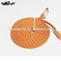 Nylon Braided USb Charger Cable For iPhone 6 / 6 Plus ,Colorful Flat Cable 3M 10 Feet
