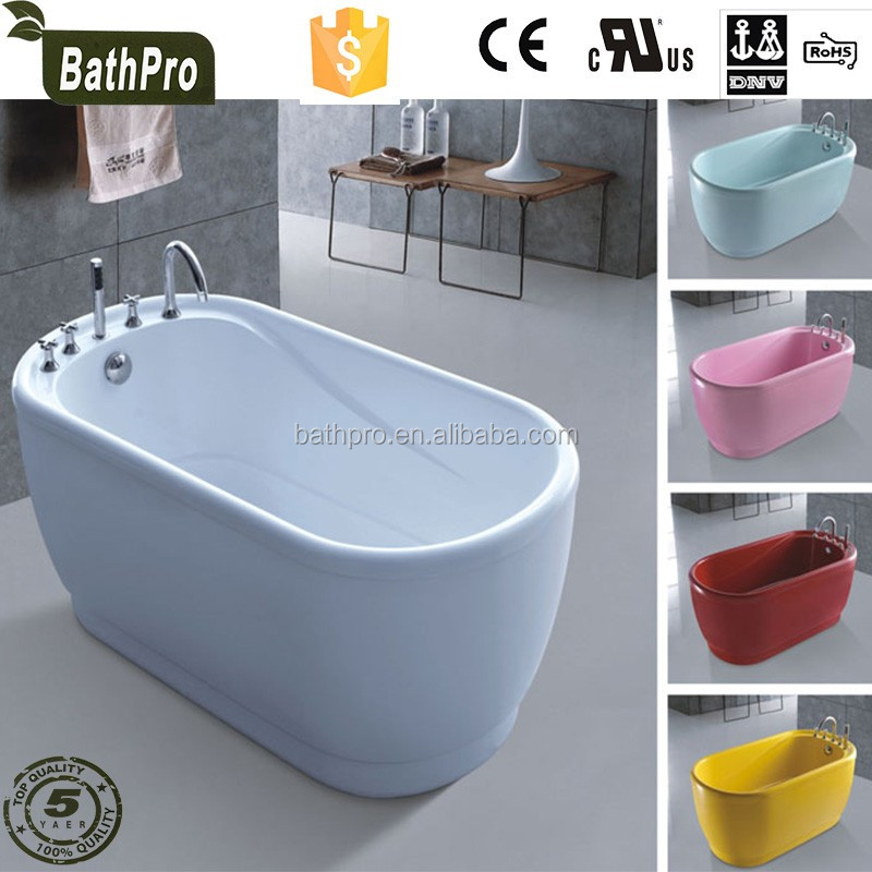 Oval Small Freestanding one piece bath tub colorful bathtub for small spaces
