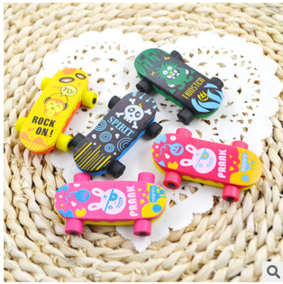 Factory direct cute car shape Non-toxic Die-cut Tpr Eraser