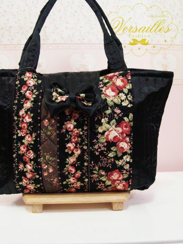 Flor,patrón handbag 100% hecho a mano