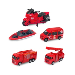 Hot diecast toy vehicles miniature metal toy cars mini airport fire truck toy