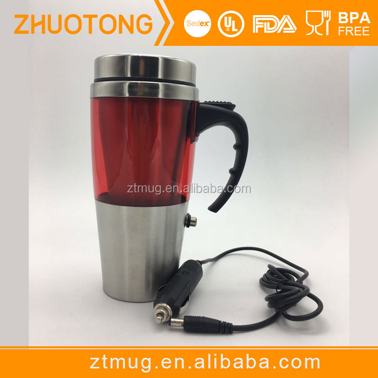 FDA certified 12V heated thermos with heating plug