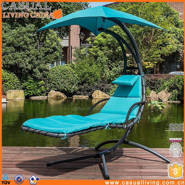 US Floating Swing Chaise Lounge Chair Hammock Lounger