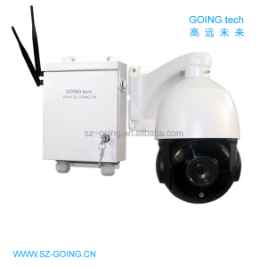GOING tech 4G 3G sim card outdoor wireless 3g ip camera PTZ 18X optical zoom