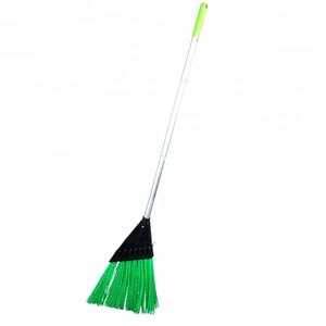 Wholesale Manufacturer Cleaning Plastic Garden Sweeping Grass Long Handle Broom