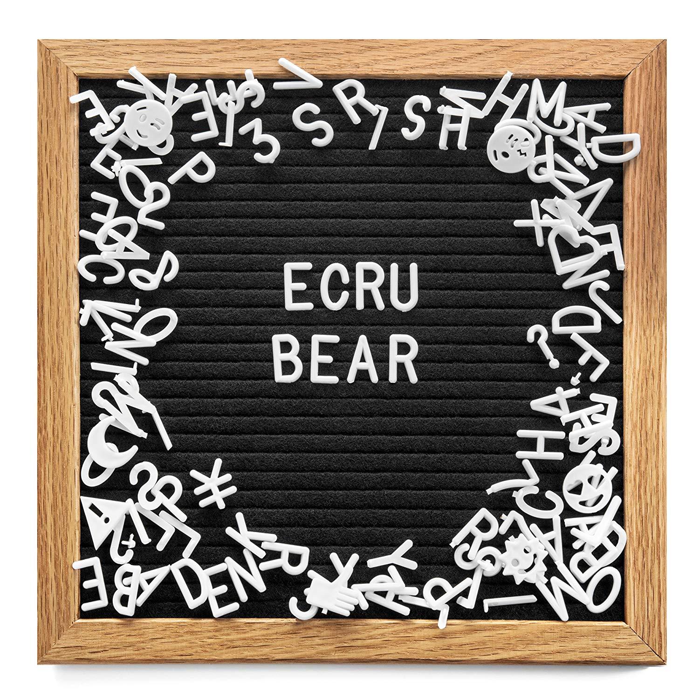 Symbols /& Emojis for Changeable Felt Letter Boards Horoshop Letter Board Letter Set 3//4 Black Numbers 340-Piece Black Letters