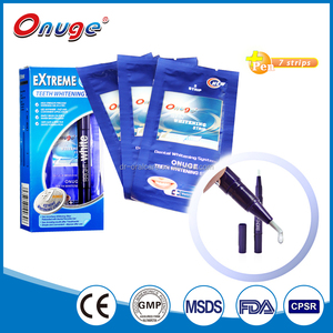 Oral care teeth whitening home kit with tooth whitening pen and teeth whitening strips