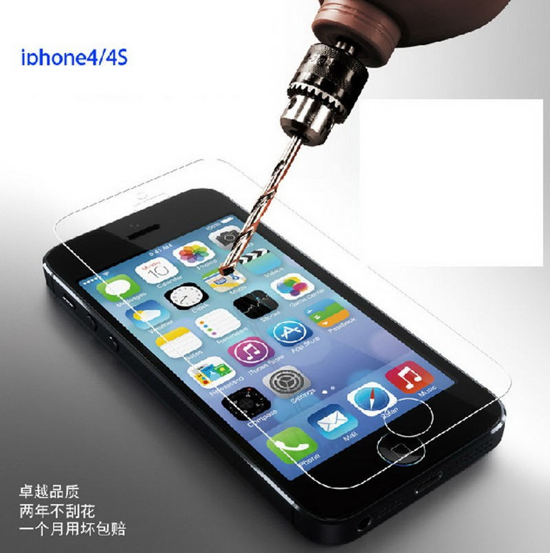 Hot sale 9H tempered glass screen protector for iphone 4 5 6 6s 7 7s