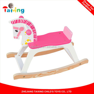 2017 Children Wooden Rocking Horse For Sale, Kids Wooden Rocking Horse Toys,Wooden Ride on Horse