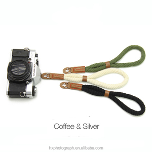 Hot Sale Cotton Material Durable Adjustable Rope Canon Camera Wrist Strap