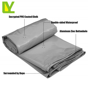 White Tarpaulin-Waterproof Heavy Duty Tarp Sheet Premium Quality Cover Made of 650g/m2Tarpaulin for Camping, Fishing, Gardening