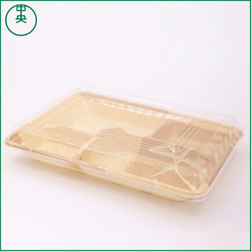 4 grid lunch box PP plastic material 2017 eco-friendly high quality new style 4 grid lunch box