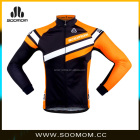 Pro Cycling Team Wear Winter Outdoor Riding Men's Windproof Sublimated Print Orange Thermal High Quality Cycling Jacket