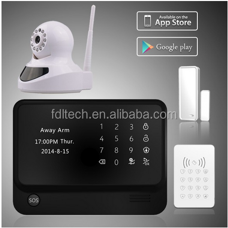 HOT WIFI alarmas ! GSM Quad Band Network Based Wireless Home Alarm System Wifi conect wireless wifi cameras