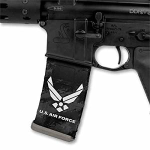 Ultimate Arms Gear Mag Wraps 4 Pack of USA United States U.S. AIR FORCE AR15/M4/M16 .223 5.56 30rd Mag Waterproof Durable Skin Kit - USA MADE