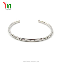 New Stainless Steel C wrist shape plain cuff Bangle designs, Fashion custom logo open bracelets wholesale