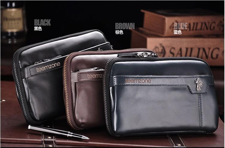 c710f5191de2 ... teemzone моды бизнес мужчины сумка 100% первый слой корова кожа кожа  случайный человек день клатч ...