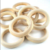 3 inch Unfinished Wooden Rings For Inspired Crafts