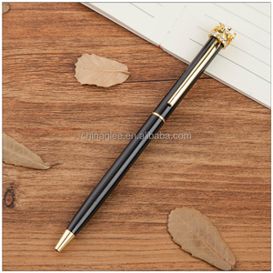Customized popular wedding favors gifts metal pen hotel crystal crown ball pen