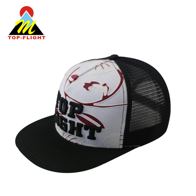 18da391c26d68 OEM design black front neon mesh 5 panel snapback cap polyester and cotton  hiphop cap