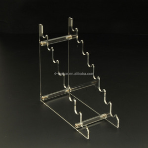 Clear Acrylic trapezoidal 8 styles exhibit Pen Stand Display Pencil Holder Rack or Lipstick Shelf