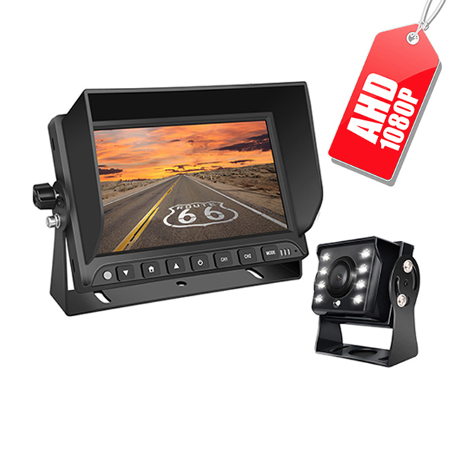 4-Channel 7 Inch Quad Display Bus AHD Lcd Car Backup System