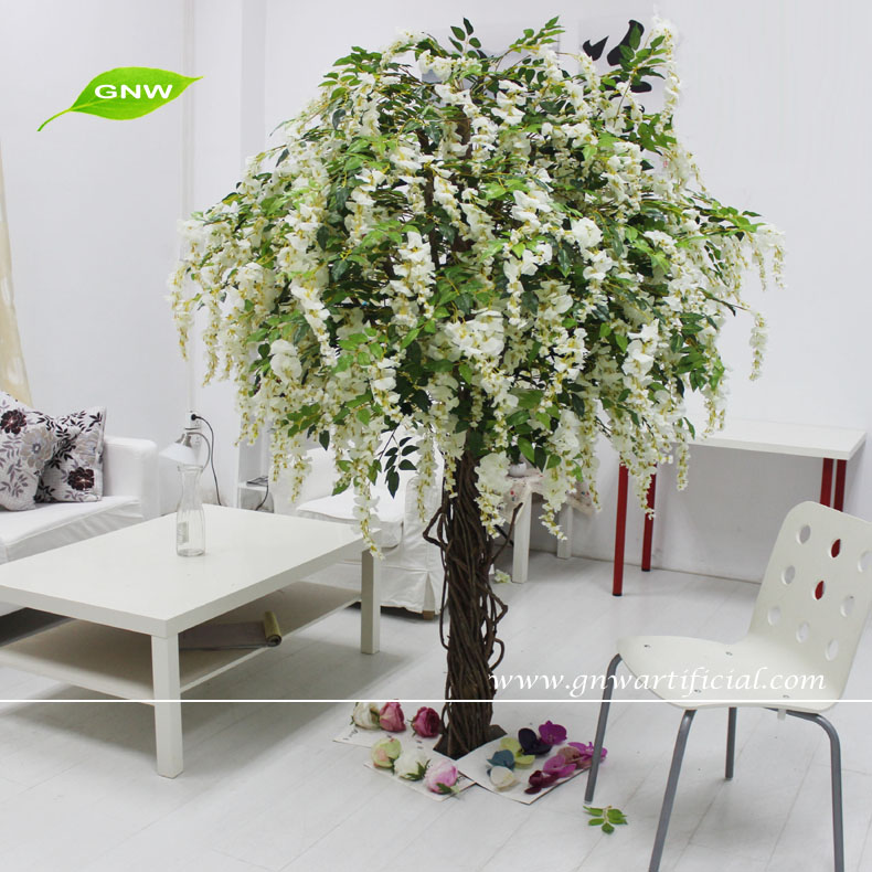 gnw artificial wisteria blossom trees,white wedding tree bls053-2