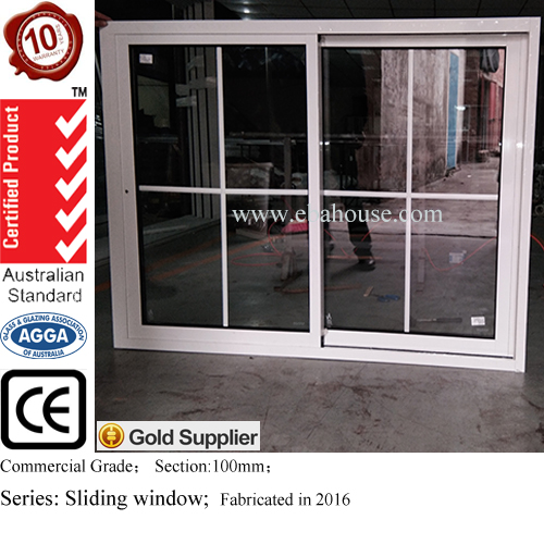 AS2047 approved aluminium windows with window blinds/grill design