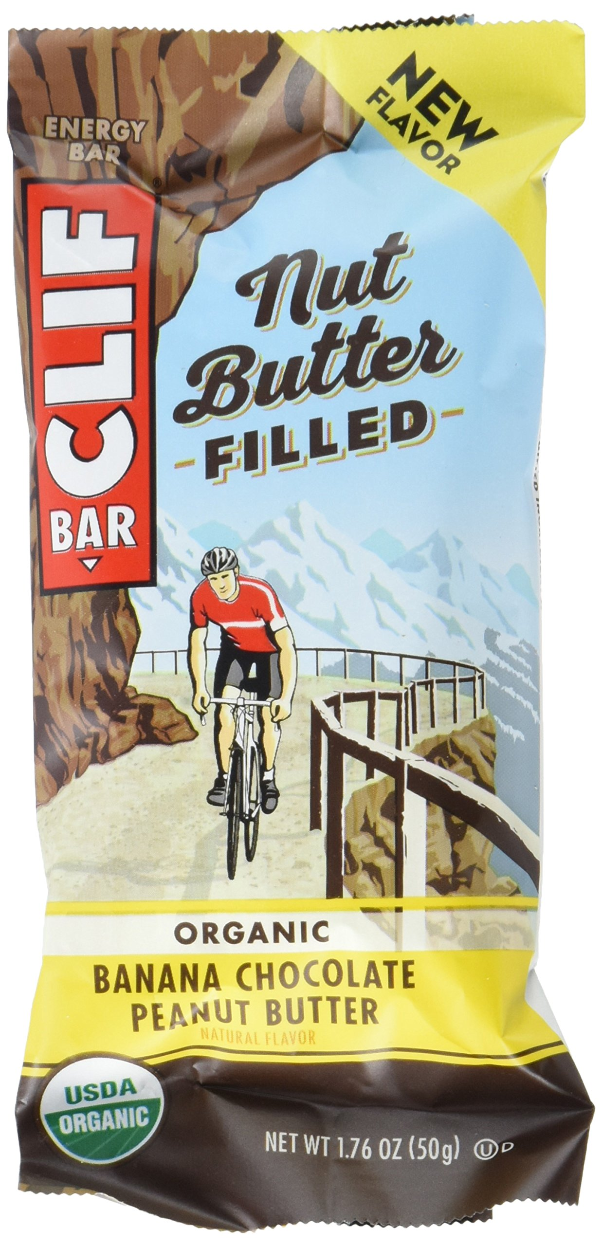 CLIF Nut Butter Filled - Organic Energy Bar - Banana Chocolate Peanut Butter - 1.76 Ounce Protein Snack Bar, 12 Count