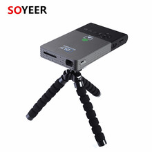 Soyeer C2 DLP Mini <span class=keywords><strong>Proiettore</strong></span> <span class=keywords><strong>Android</strong></span> 4.4 rk3218 quad core tv box Laser Più Conveniente mini <span class=keywords><strong>Proiettore</strong></span>