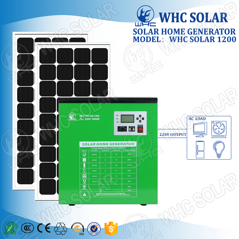 1000W Solar Home Generator With AC charger function for backup
