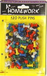 """Push Pins - Assorted Colors - 120 Count [48 Pieces] *** Product Description: Push Pins - Assorted Colors - 120 Count - Plastic Top With 1/2"""" Metal Tip - For Use On Cork, Wood, And Cardboard Display Boards. ***"""