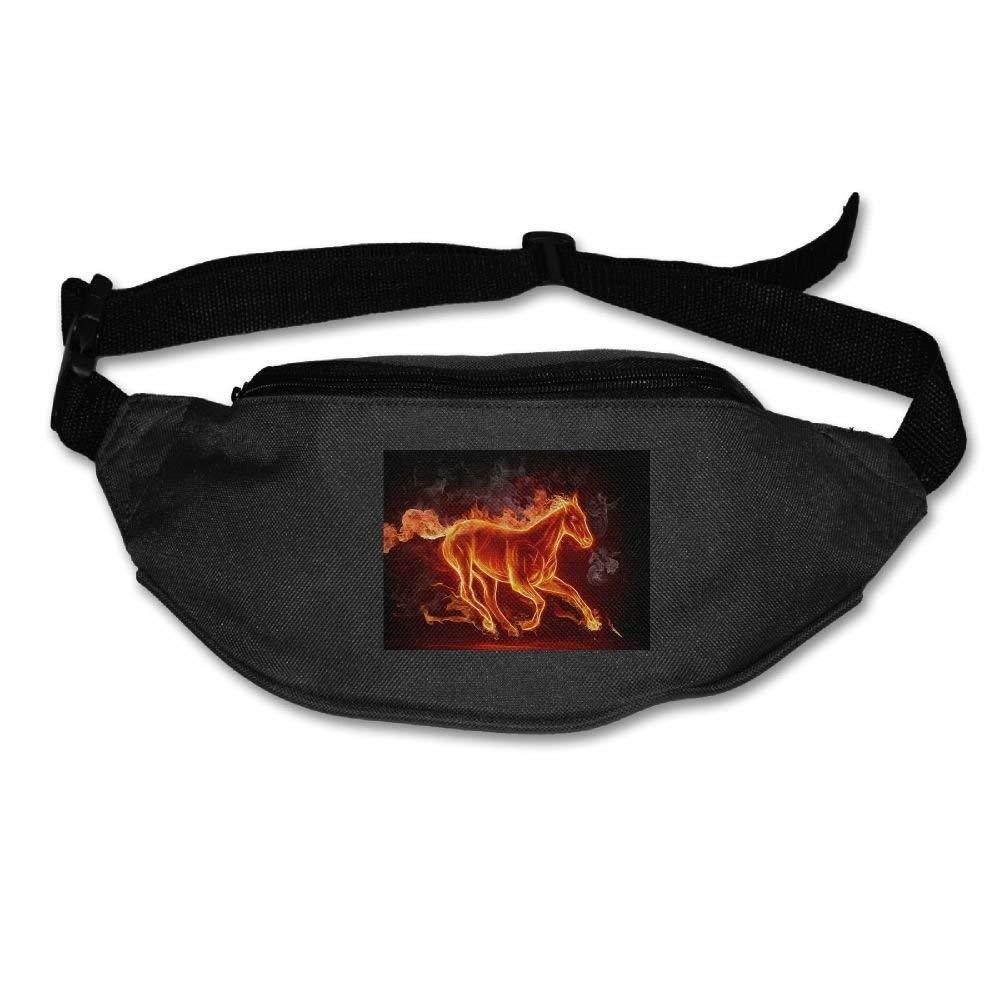 Jessent Unisex Waist Bags Pockets Horse Fanny Pack Waist/Bum Bag Adjustable Belt Running Cycling Bag