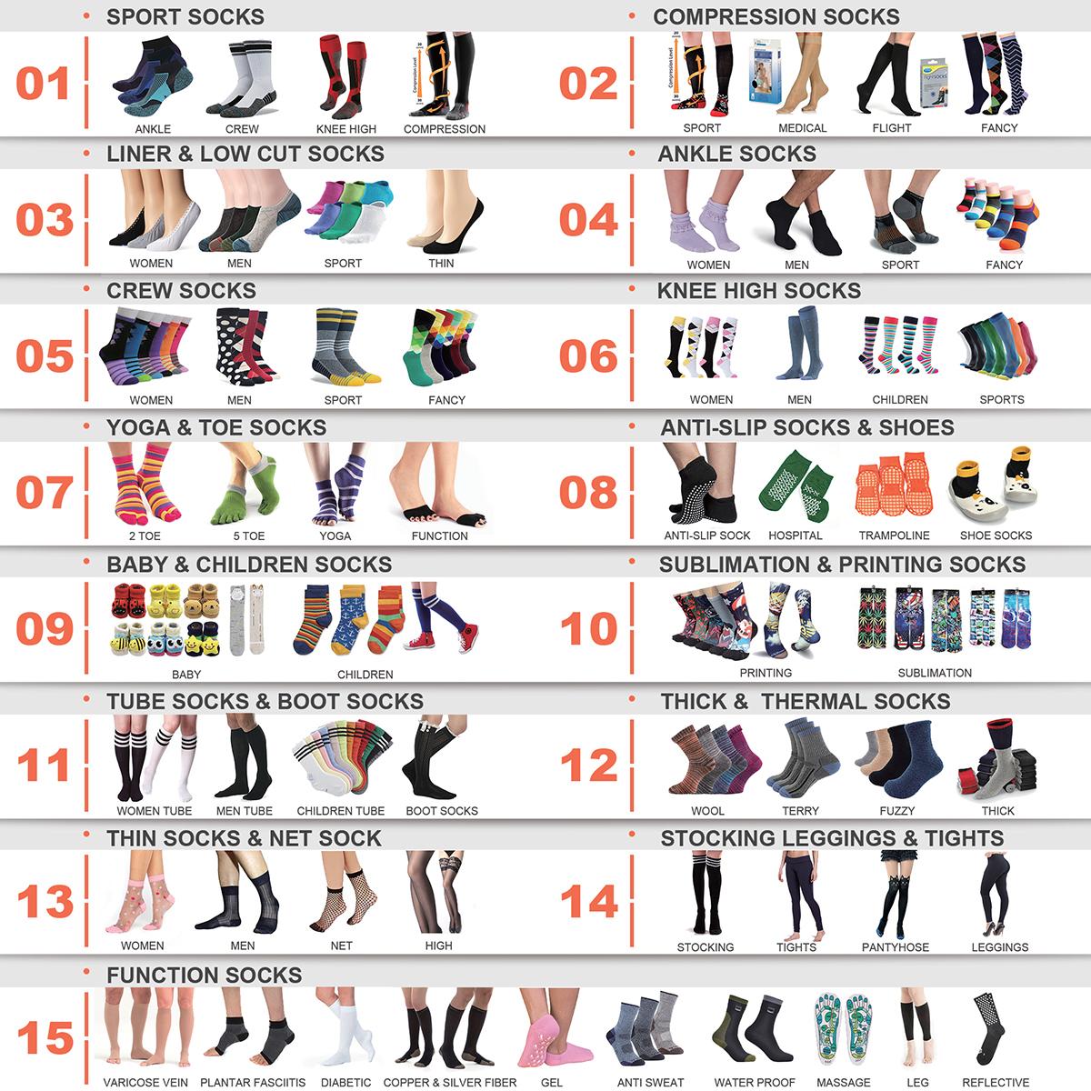 BY-II-0863 chaussettes sans élastique