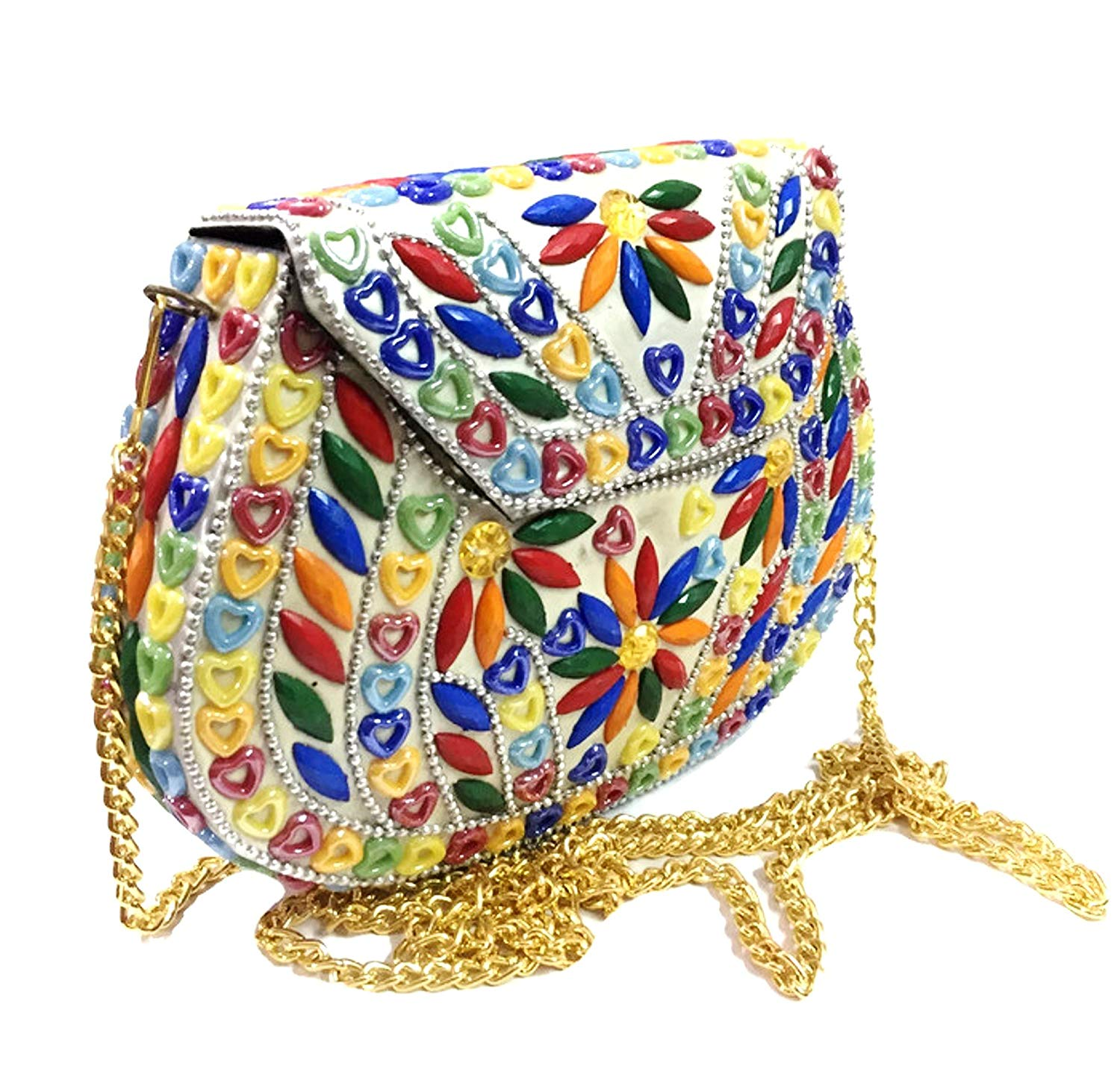 Party Bridal Box Clutch for women Handmade clutch Metal purse wallet sling bag bridal bag Party bags Ethnic Clutch