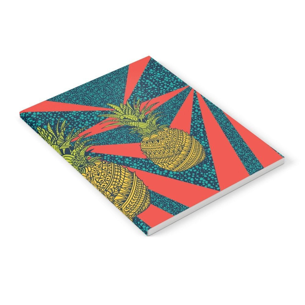 "Society6 Pineapple Wrap |color| Notebook 6"" x 8"" Unlined"