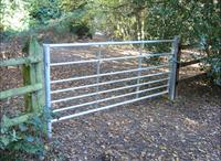 GALVANISED 7 RAIL GALVANISED METAL FARM FIELD SECURITY GATES/7 Bar Galvanised Field Gate