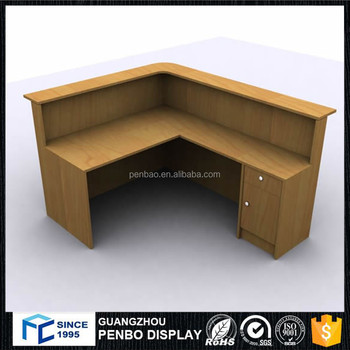 Hot Sales Wood Low Price Cash Counter Table Design For Shop