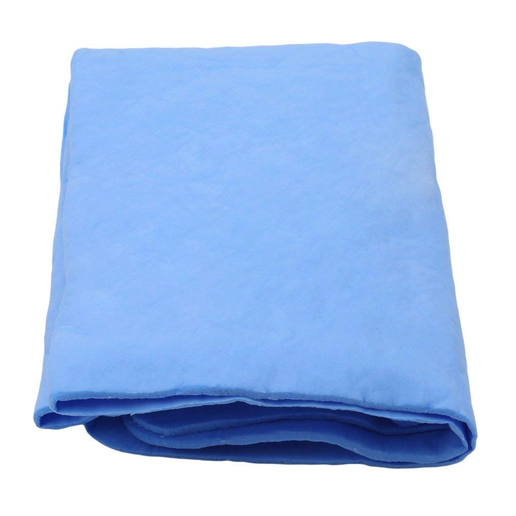 VWH Auto Care Suede PVA Deerskin Chamois Towels Car Cleaning Cham Towel Washcloth Sponge Super absorbent (Blue)