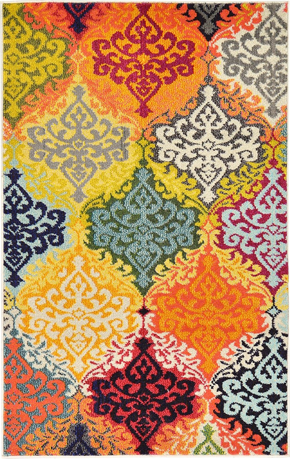 A2Z Rug Modern Mayfair Collection, Multi 3.2-Feed-by-5.2-Feed Area Rugs - Contemporary Living & Dinning & Bedroom Carpet