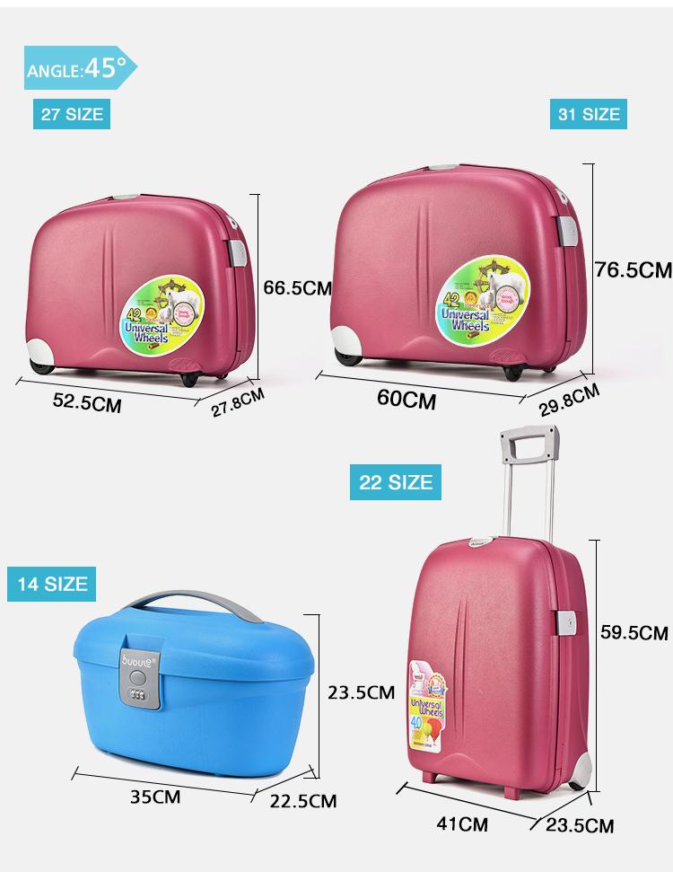 """BUBULE PP 27"""" 31"""" Suitcase Rolling 14"""" 18"""" 22"""" Hard Case Luggage Set"""