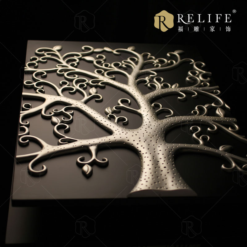 2017 Wholesale Factory Price The Silver 100% Handmade 3D Art Metal Tree Wall Art The tree of Life
