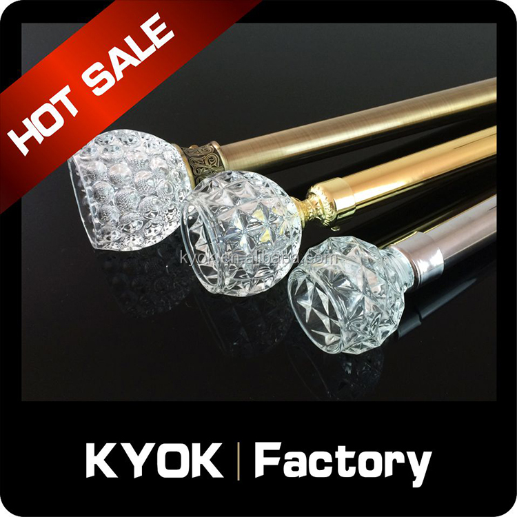KYOK Windows desgin double curtain rod accessories ,double curtain rods and rails