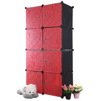 hottest DIY plastic easy Clothes Garment Storage wardrobe for family(YK-1028)
