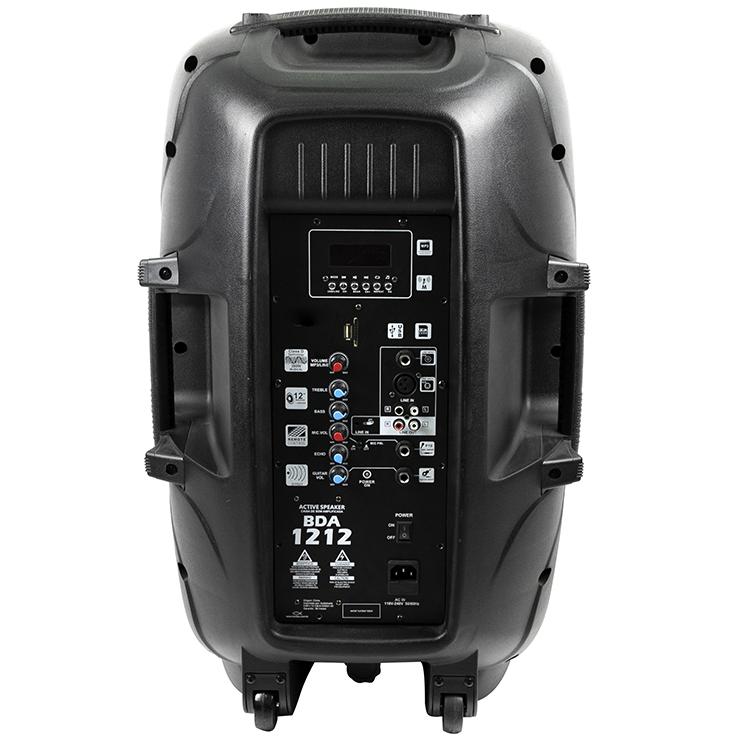 2019 Hot Sale Portable Active New Design Bluetooth Speaker 15 Inch Black PA Sound System Speaker