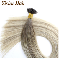 Stock !! Factory price virgin human hair wholesale top quality natural black last long flat tip hair extension
