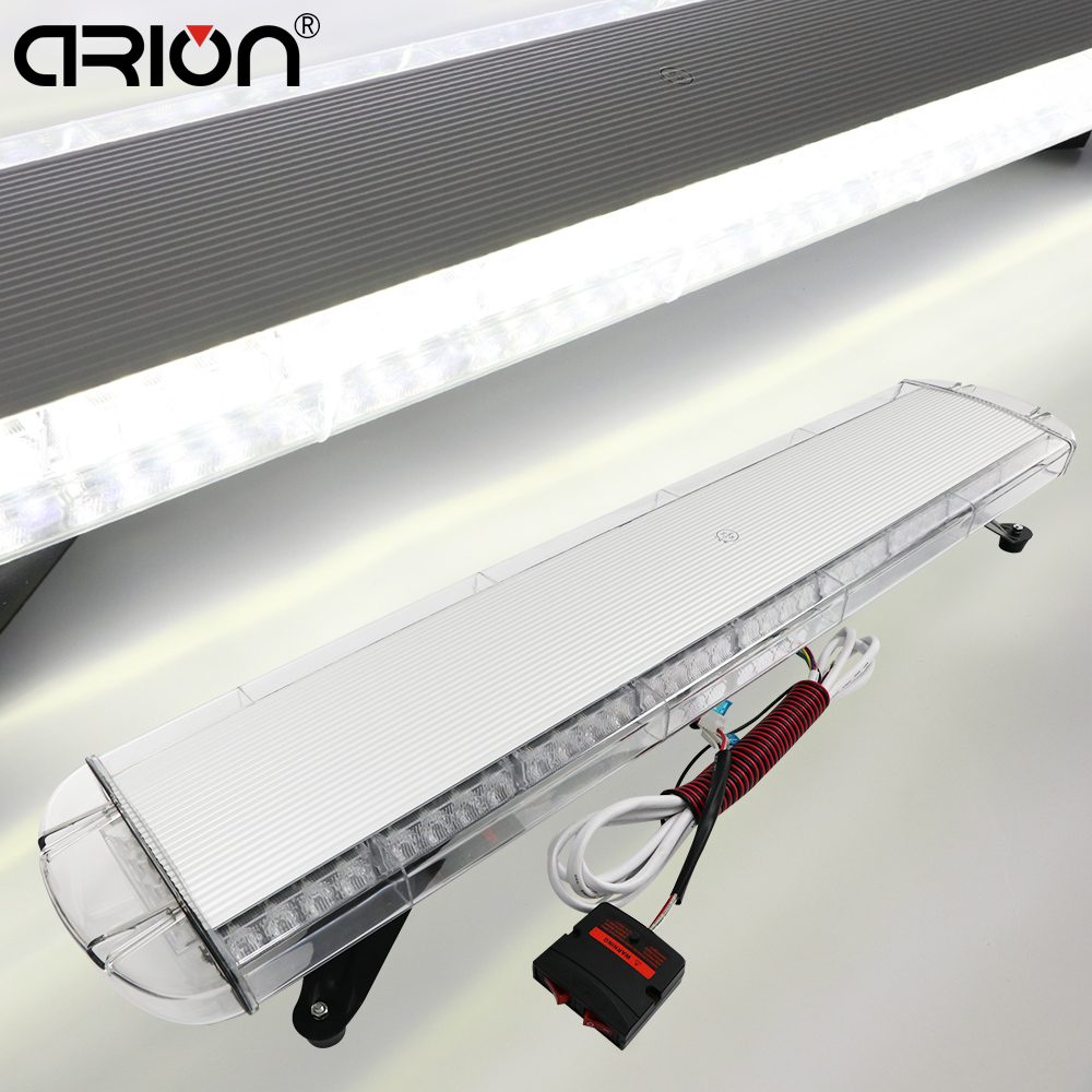 "42"" White car led light Police Warning Strobe firefighters lightbars 108cm"