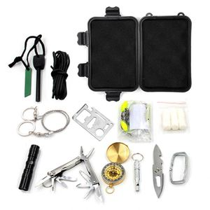 different survival kits 1 unit outdoor camping and hiking gear material